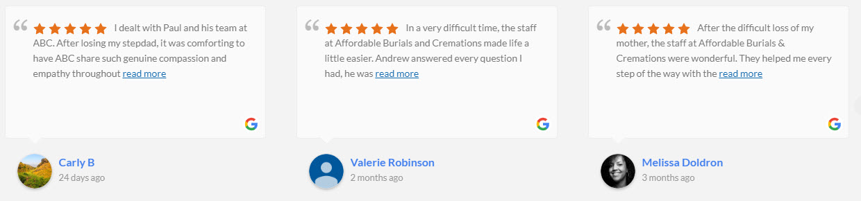 Affordable Burials and Cremations Reviews
